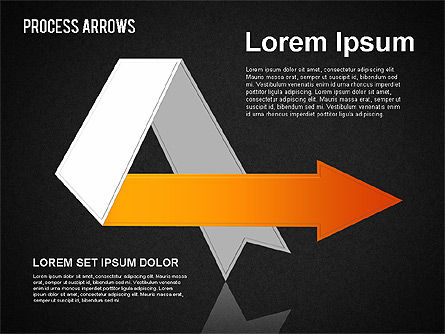 Origami Style Process Arrows, Slide 11, 01484, Shapes — PoweredTemplate.com