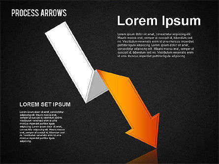 Origami Style Process Arrows, Slide 12, 01484, Shapes — PoweredTemplate.com