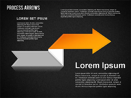 Origami Style Process Arrows, Slide 14, 01484, Shapes — PoweredTemplate.com