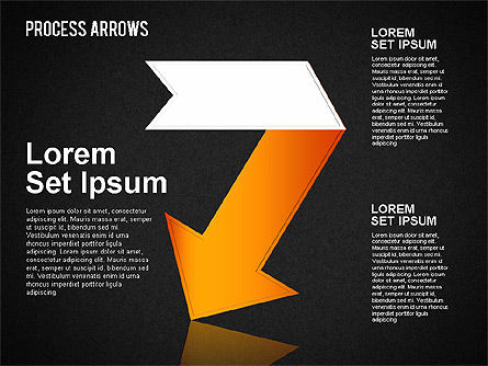 Origami Style Process Arrows, Slide 15, 01484, Shapes — PoweredTemplate.com