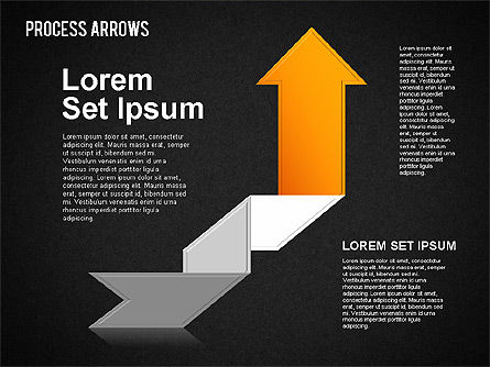 Origami Style Process Arrows, Slide 16, 01484, Shapes — PoweredTemplate.com