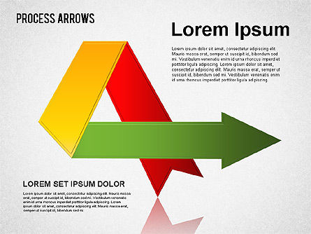 Origami Style Process Arrows, Slide 3, 01484, Shapes — PoweredTemplate.com