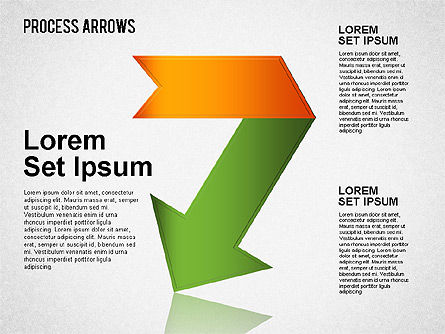Origami Style Process Arrows, Slide 7, 01484, Shapes — PoweredTemplate.com