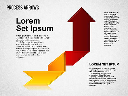 Origami Style Process Arrows, Slide 8, 01484, Shapes — PoweredTemplate.com