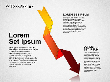 Origami Style Process Arrows, Slide 9, 01484, Shapes — PoweredTemplate.com