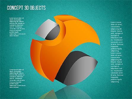 3D Objects Toolbox, Slide 10, 01485, Shapes — PoweredTemplate.com