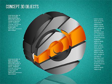 3D Objects Toolbox, Slide 12, 01485, Shapes — PoweredTemplate.com