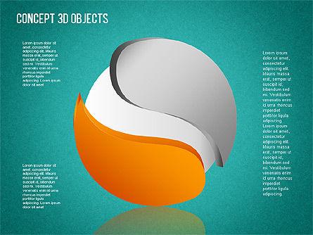 3D Objects Toolbox, Slide 13, 01485, Shapes — PoweredTemplate.com