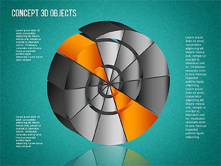 3D Objects Toolbox, Slide 14, 01485, Shapes — PoweredTemplate.com