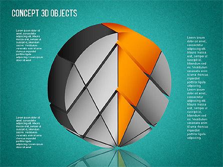 3D Objects Toolbox, Slide 15, 01485, Shapes — PoweredTemplate.com