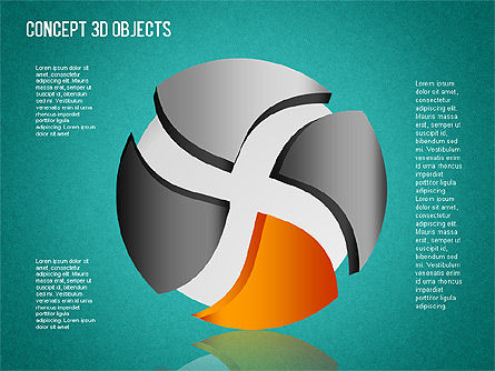 3D Objects Toolbox, Slide 16, 01485, Shapes — PoweredTemplate.com