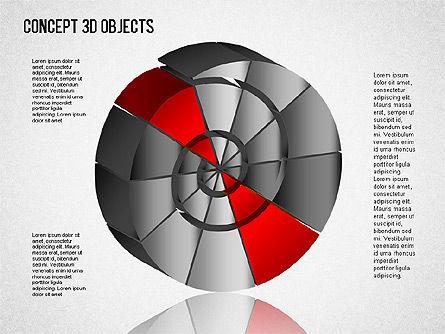3D Objects Toolbox, Slide 5, 01485, Shapes — PoweredTemplate.com