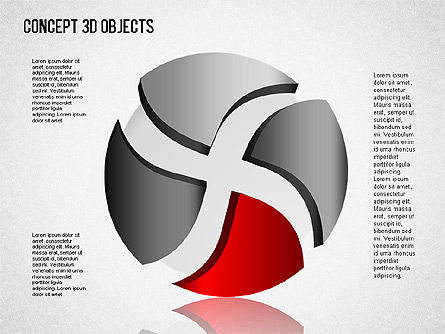 3D Objects Toolbox, Slide 7, 01485, Shapes — PoweredTemplate.com