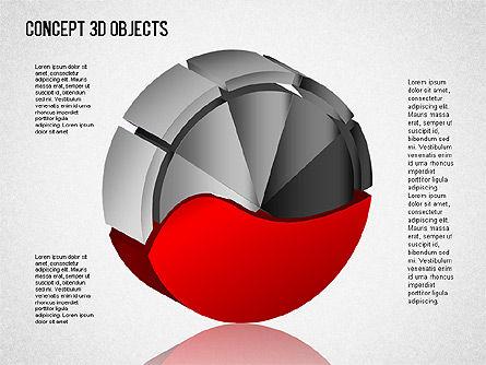 3D Objects Toolbox, Slide 8, 01485, Shapes — PoweredTemplate.com