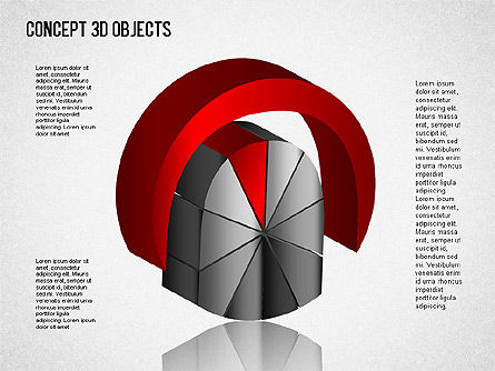 3D Objects Toolbox, Slide 9, 01485, Shapes — PoweredTemplate.com