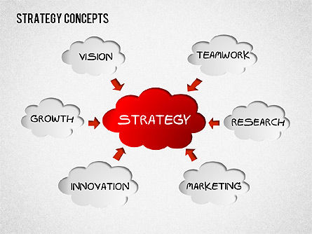 Business Models: Strategy Concept Shapes #01486