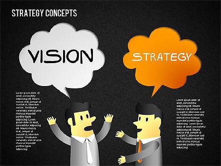 Strategy Concept Shapes, Slide 12, 01486, Business Models — PoweredTemplate.com