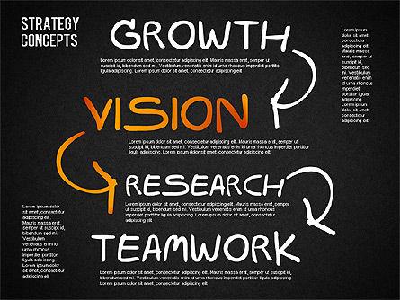 Strategy Concept Shapes, Slide 16, 01486, Business Models — PoweredTemplate.com