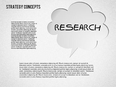 Strategy Concept Shapes, Slide 2, 01486, Business Models — PoweredTemplate.com