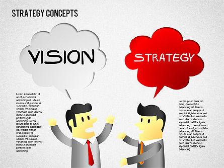 Strategy Concept Shapes, Slide 4, 01486, Business Models — PoweredTemplate.com