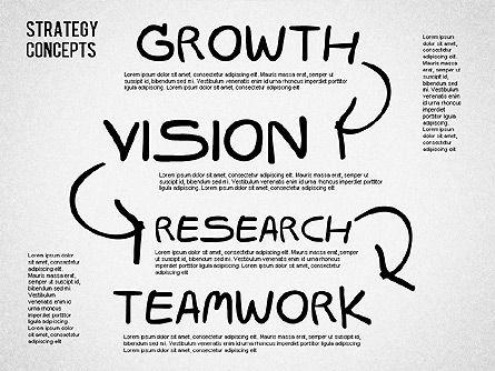 Strategy Concept Shapes, Slide 8, 01486, Business Models — PoweredTemplate.com