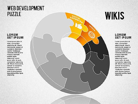 Web Development Puzzle, Slide 2, 01487, Puzzle Diagrams — PoweredTemplate.com