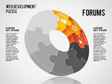 Web Development Puzzle, Slide 3, 01487, Puzzle Diagrams — PoweredTemplate.com