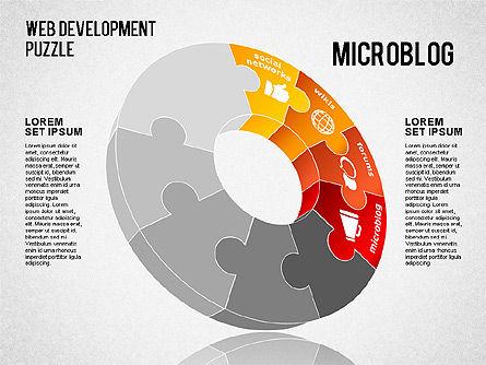 Web Development Puzzle, Slide 4, 01487, Puzzle Diagrams — PoweredTemplate.com