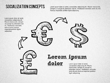 Socialization Concept Shapes, Slide 10, 01491, Shapes — PoweredTemplate.com