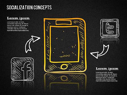 Socialization Concept Shapes, Slide 11, 01491, Shapes — PoweredTemplate.com