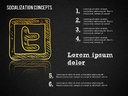 Socialization Concept Shapes, Slide 12, 01491, Shapes — PoweredTemplate.com