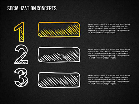 Socialization Concept Shapes, Slide 13, 01491, Shapes — PoweredTemplate.com