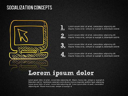 Socialization Concept Shapes, Slide 14, 01491, Shapes — PoweredTemplate.com