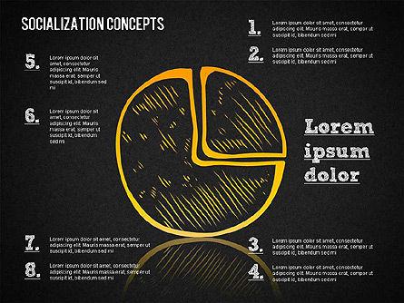 Socialization Concept Shapes, Slide 16, 01491, Shapes — PoweredTemplate.com