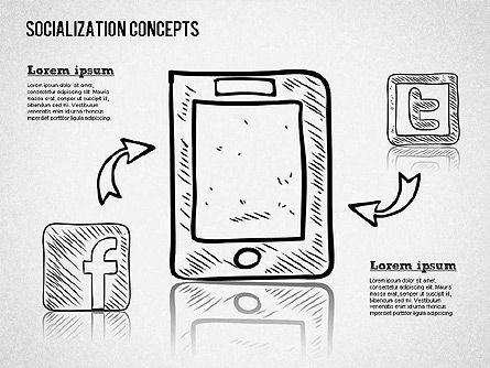 Socialization Concept Shapes Slide 2