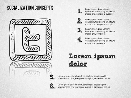 Socialization Concept Shapes Slide 3