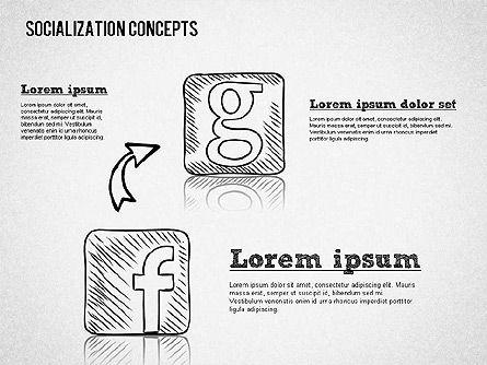 Socialization Concept Shapes, Slide 5, 01491, Shapes — PoweredTemplate.com