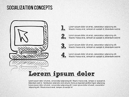 Socialization Concept Shapes, Slide 6, 01491, Shapes — PoweredTemplate.com