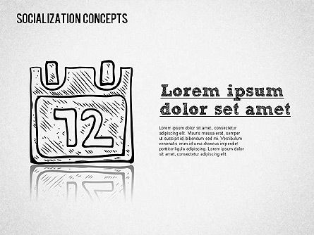 Socialization Concept Shapes, Slide 7, 01491, Shapes — PoweredTemplate.com