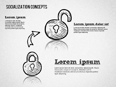 Socialization Concept Shapes, Slide 8, 01491, Shapes — PoweredTemplate.com