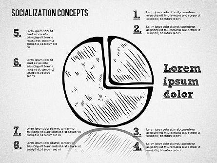 Socialization Concept Shapes, Slide 9, 01491, Shapes — PoweredTemplate.com