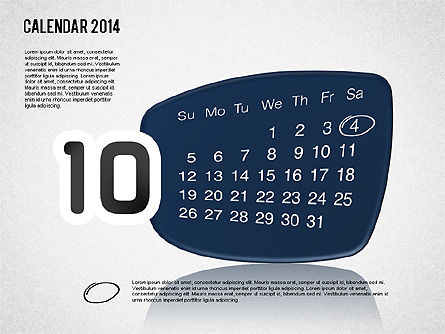 Calendar 2014, Slide 11, 01492, Timelines & Calendars — PoweredTemplate.com