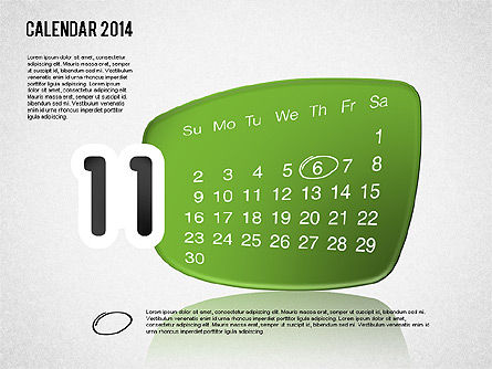 Calendar 2014, Slide 12, 01492, Timelines & Calendars — PoweredTemplate.com