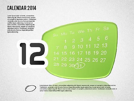 Calendar 2014, Slide 13, 01492, Timelines & Calendars — PoweredTemplate.com