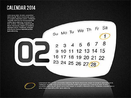 Calendar 2014, Slide 16, 01492, Timelines & Calendars — PoweredTemplate.com