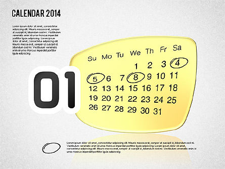 Calendar 2014, Slide 2, 01492, Timelines & Calendars — PoweredTemplate.com