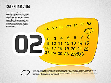 Calendar 2014, Slide 3, 01492, Timelines & Calendars — PoweredTemplate.com