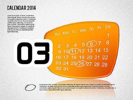 Calendar 2014, Slide 4, 01492, Timelines & Calendars — PoweredTemplate.com