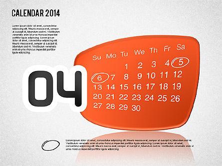 Calendar 2014, Slide 5, 01492, Timelines & Calendars — PoweredTemplate.com