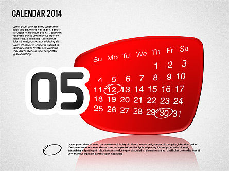 Calendar 2014, Slide 6, 01492, Timelines & Calendars — PoweredTemplate.com